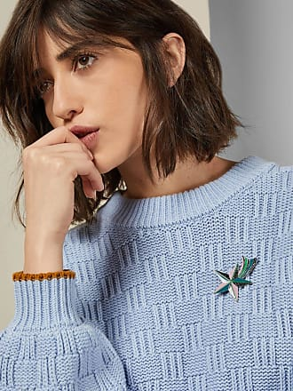 Ted Baker Knitted Wool Blend Jumper in Light Blue LUISA, Womens Clothing
