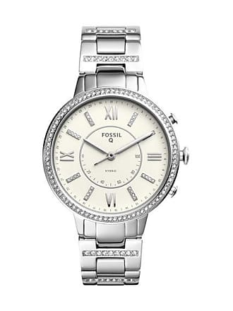 Zales Ladies Fossil Q Virginia Crystal Accent Hybrid Smart Watch with White Dial (Model: Ftw5009)