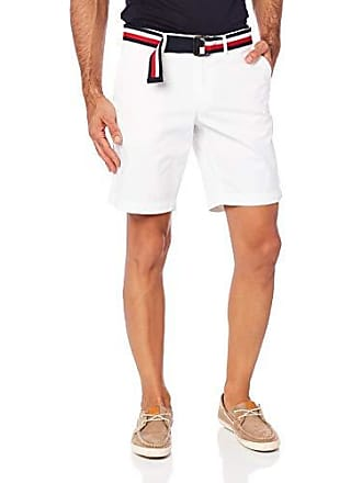 0cd4d82e Tommy Hilfiger Mens Brooklyn Straight Fit Shorts with Belt, Bright White,  34 NI