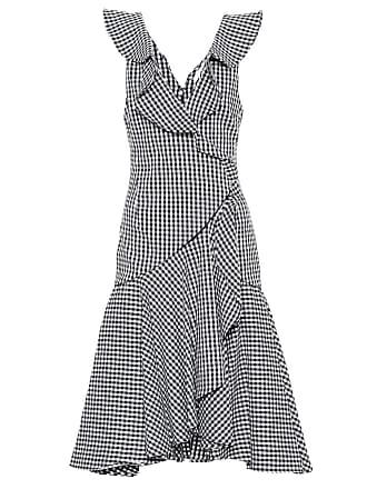 Jonathan Simkhai Checked cotton-blend midi dress