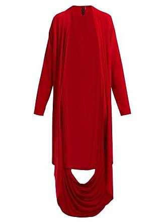 Norma Kamali Draped Jersey Cardigan - Womens - Red
