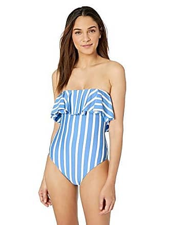 89f78d5f43 Milly Womens Ruffle top one Piece-Full Coverage, Blue/Ivory, S