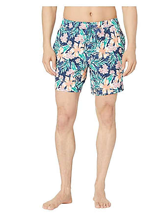 e3c61e3c95f17 Vineyard Vines Guana Floral Chappy Trunks (Moonshine) Mens Swimwear