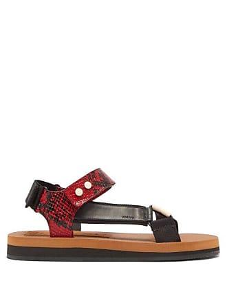 Joseph Tri Colour Python Effect Leather Sandals - Womens - Red White