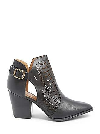Forever 21 Forever 21 Western Cutout Booties Black