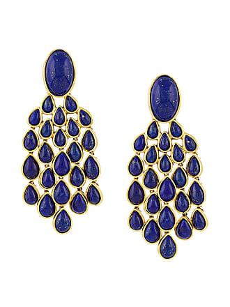 Aurélie Bidermann Par de brincos Lapis Lazuli - Metálico