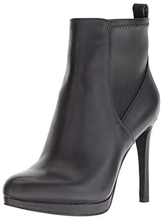 Nine West Womens QUILLIN Leather Ankle Boot, Black, 9.5 M US