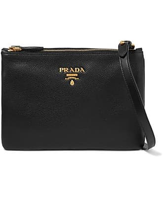 b9ae72dfaa51 Prada Textured-leather Shoulder Bag - Black