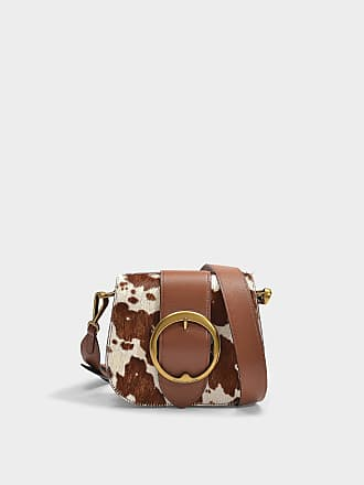 bef601b794 Polo Ralph Lauren Lennox Medium Crossbody Bag in Brown and Cream Haircalf