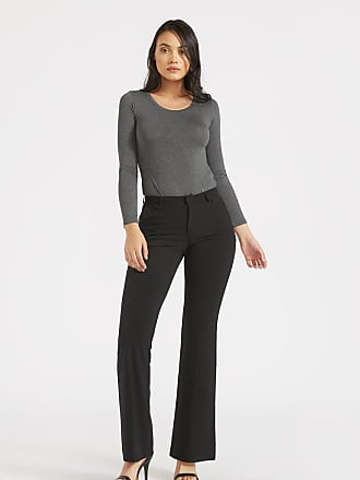 Alloy Apparel Tall Cecilia Super Slim Plus Size Trousers for Women Black 15/37 - Rayon