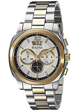 Bulova Relógio Masculino Bulova Analógico WB30865S - Prata/Dourado
