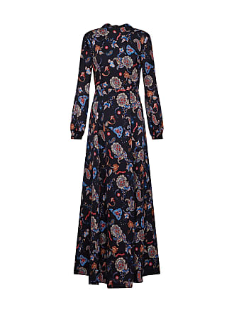 2638f893268afb IVY   OAK Jurk Printed Long Evening Dress gemengde kleuren   zwart