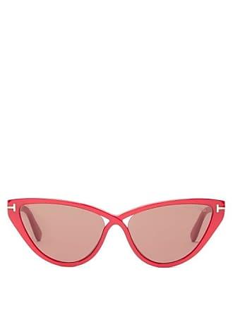 4d2b5c8c8b6bd Tom Ford Eyewear T Monogram Cat Eye Acetate Sunglasses - Womens - Red