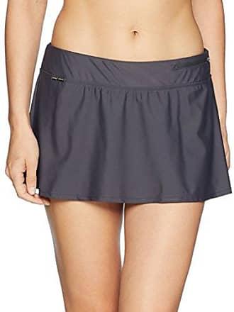 ZeroXposur Womens Plus Size Swim Skirt Bottom with Brief, Slate, 20W