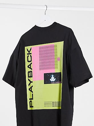 Collusion Unisex oversized t-shirt with back print in black
