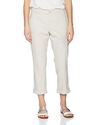 Lee Womens Straight Fit Embroidered Bohemian Cargo Capri Pant, Cadet Gray, 10