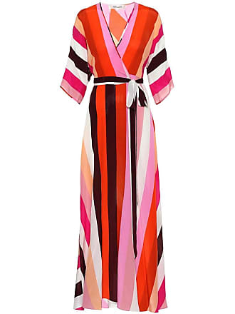 Diane Von Fürstenberg Eloise striped silk maxi dress