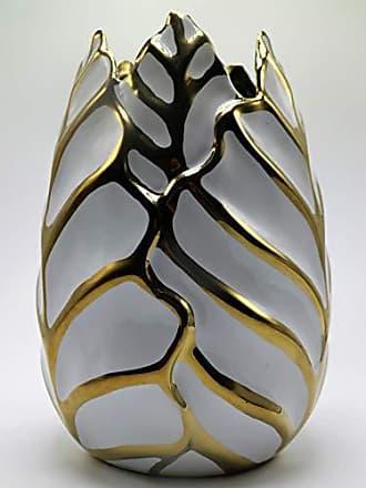 Sagebrook Home Vase, 5.75 x 5.75 x 7.75 inches, Gold