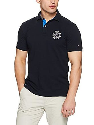 1719004d1 Tommy Hilfiger Mens Solid Badge Regular Polo, Sky Captain, Small