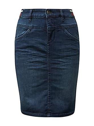 39c03dd0e4a4c4 Tom Tailor Casual Damen Jeans Rock, Blau (Dark Blue Denim 10136),  Herstellergröße
