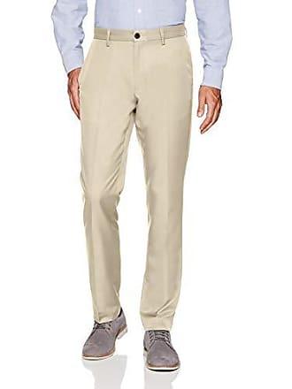 Amazon Essentials Mens Slim-Fit Flat-Front Dress Pants, Stone, 29W x 30L