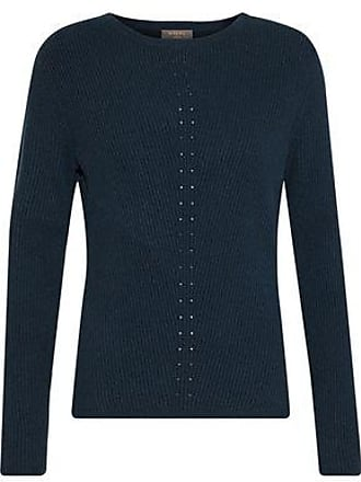 N.Peal N.peal Woman Ribbed Cashmere Sweater Storm Blue Size XS