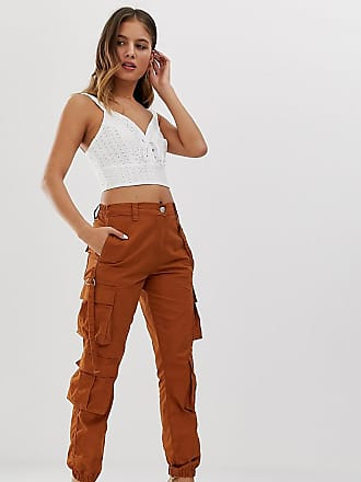 New Look utility pants with pockets in brown - Brown