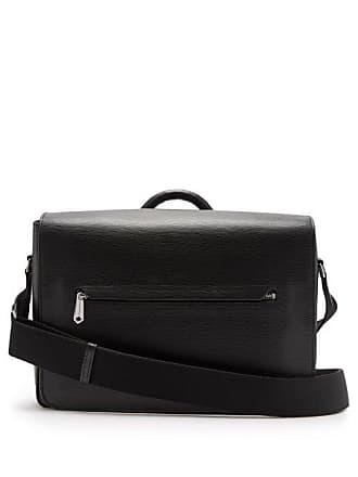 Paul Smith Textured Leather Messenger Bag - Mens - Black
