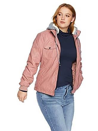 Yoki Womens Plus Size Faux Leather Jacket with Fleece Hood, Mauve, 3X