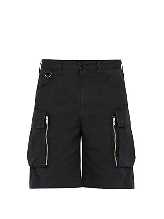 Undercover Relaxed Fit Cotton Poplin Cargo Shorts - Mens - Black