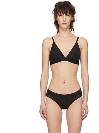 6040d7983b Calvin Klein Underwear Black Tonal Logo Unlined Triangle Bralette