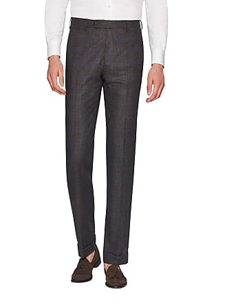 Zanella Mens Parker Dream Tweed Flat-Front Trousers