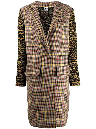 M Missoni plaid trench coat - Marrom