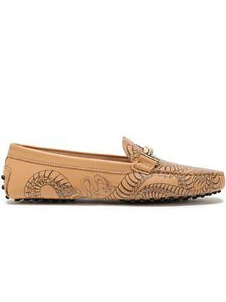 de32f2178927c Tod's Tods Woman Embellished Printed Leather Moccasins Blush Size 41