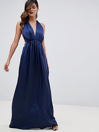 The Jetset Diaries Louvre plunge maxi Dress - Navy