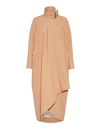 Rachel Comey Rosa High-neck Long Cocoon Coat Blush