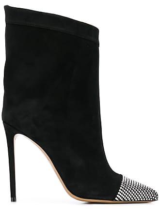 Alexandre Vauthier Ankle boot com aplicação - Preto