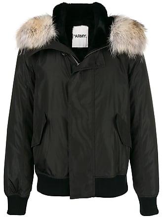 Yves Salomon - Army hooded bomber jacket - Black