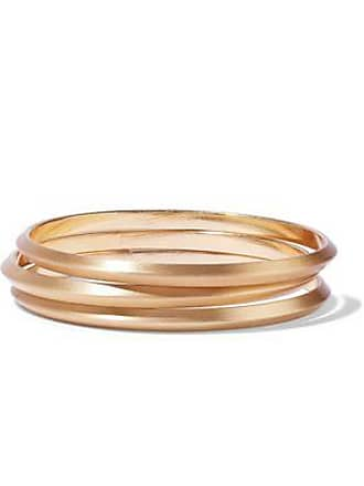 Kenneth Jay Lane Kenneth Jay Lane Woman Set Of Three Brushed Gold-tone Bangles Gold Size