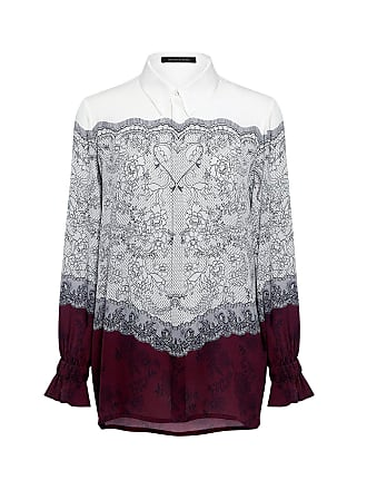 Mother Of Pearl Ethel Lace Print Blouse Chantilly Lace