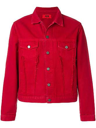 424 classic denim jacket - Vermelho