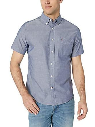 fd442381c Tommy Hilfiger Mens Short Sleeve Button Down Shirt in Custom Fit