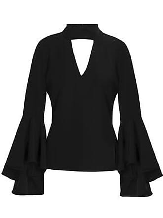 4645234d35aa7 Milly Milly Woman Andrea Fluted Cutout Stretch-cady Top Black Size 0