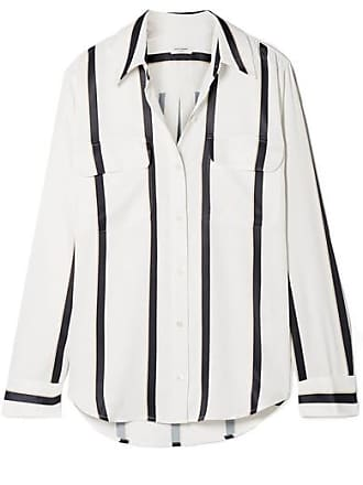Equipment Signature Striped Satin Shirt - White
