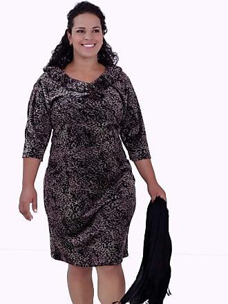 Vickttoria Vick Vestido Plush Bicho Plus Size (48)