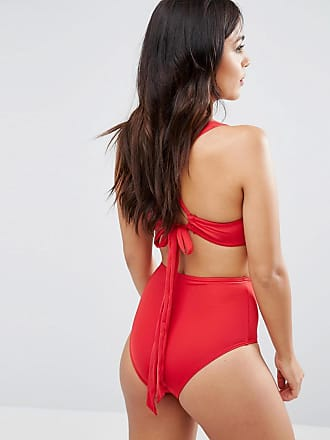 Wolf   Whistle Slinky Strappy Back Bikini Top B-G Cup - Red 8dd130eca