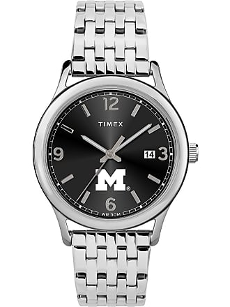 Timex Timex Watch Womens Sage Michigan Wolverines Silver-Tone/stainless Steel/black Item Twzumicwcyz