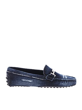 81624268d3d Tod s Blue denim loafers with vintage effect