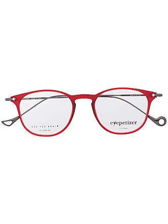 Eyepetizer Armação de óculos redonda - Vermelho
