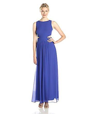 Nicole Miller Womens Sleeveless Cutout Gown, New Cobalt, 4